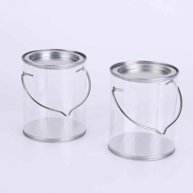Clear PVC  Tin can